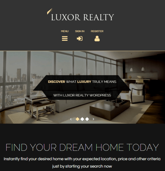 Luxor – Real Estate WP theme