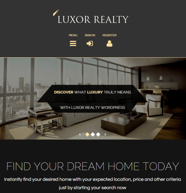 Luxor - Real Estate WP theme