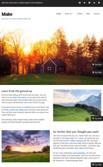 Make Plus – Home page of this theme