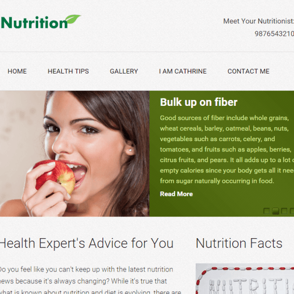 Nutrition – A responsive Fitness WordPress theme