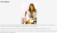 Nutrition – Author page layout