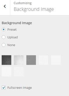 Resurrect - Live customizer Background image settings