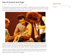 Role of Guitarist And Singer Page of Woodberry