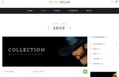 Shop Page of WINGMAN