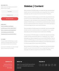 Sidebar-Content Page of Digital Pro