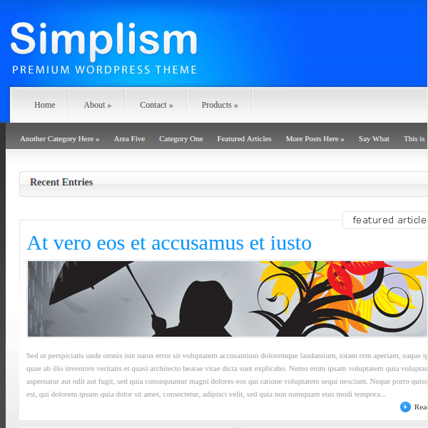 Simplism WordPress Theme