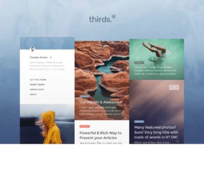 Thirds - Blog and Magazine WP theme