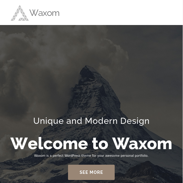 Waxom – Clean & Universal WordPress Theme