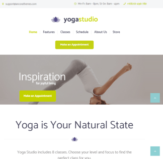 Yogastudio - Gym, Yoga and Healthcare WP Theme.