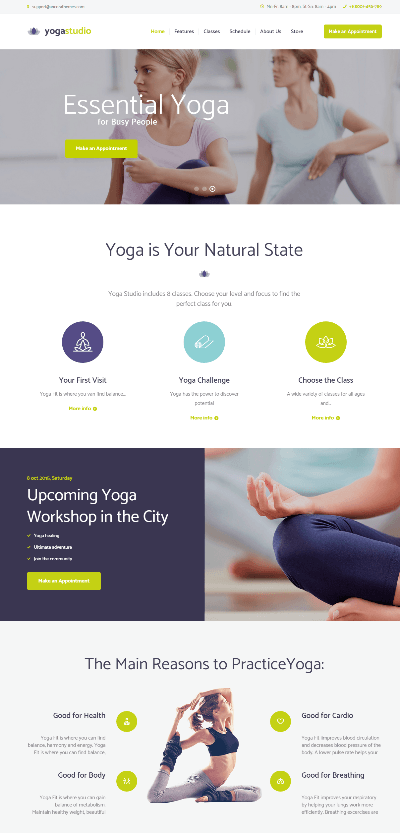Yogastudio - homepage