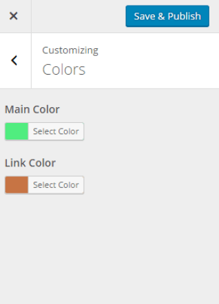 Color for the links and main section