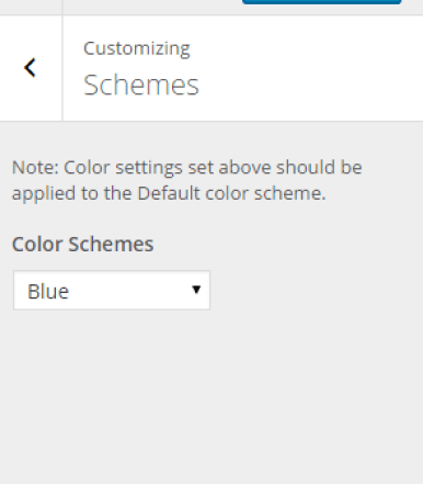 Nexus - Schemes Settings