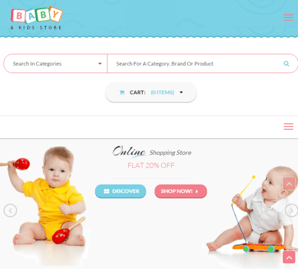 Baby and kids store – Fully Responsive WooCommerce WP theme
