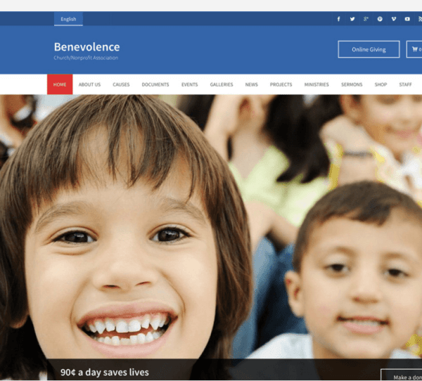 Benevolence – A NonProfit and Church WP Theme.
