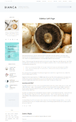 Biancca – page with left sidebar