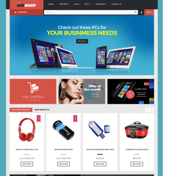 BigShop – Responsive eCommerce WordPress Theme.