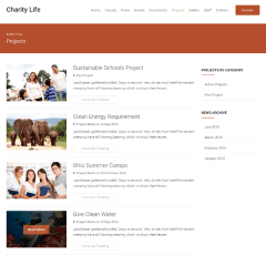 Charity Life – Projects