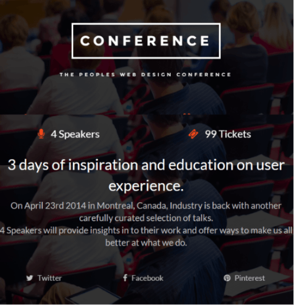 Conference – WP Theme for Conferences and Events