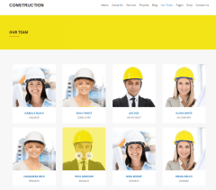 Construction – our team page