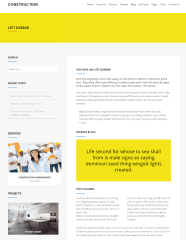 Construction – page with left sidebar