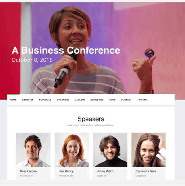 Event – WordPress Theme for Events and Conferences.