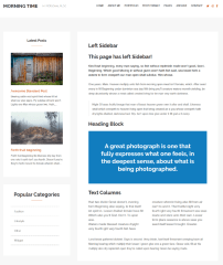 Morning Time – page with left sidebar