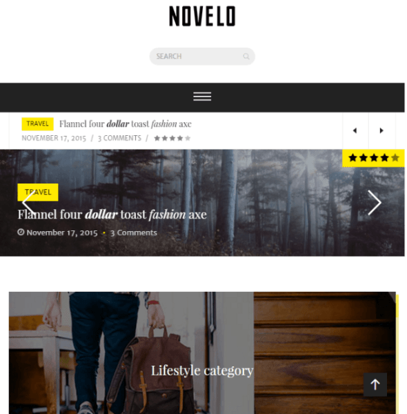 Novelo – Responsive Blog WordPress theme
