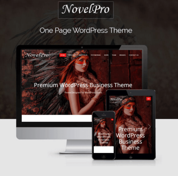 Novelpro – One page WP Theme
