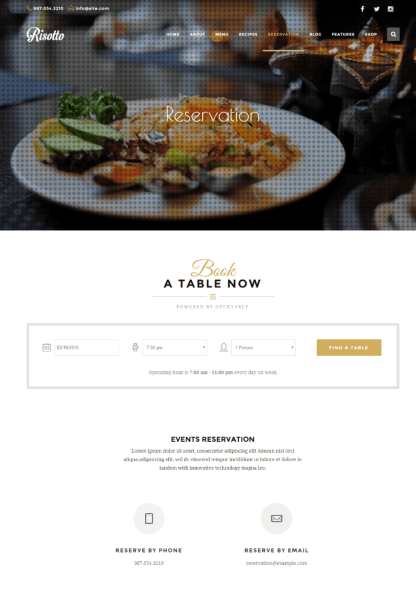 Risotto - Reservation