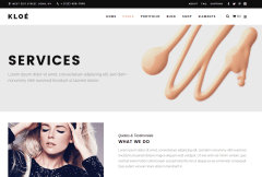 Services Page of Kloe
