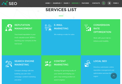 Services Page of The SEO