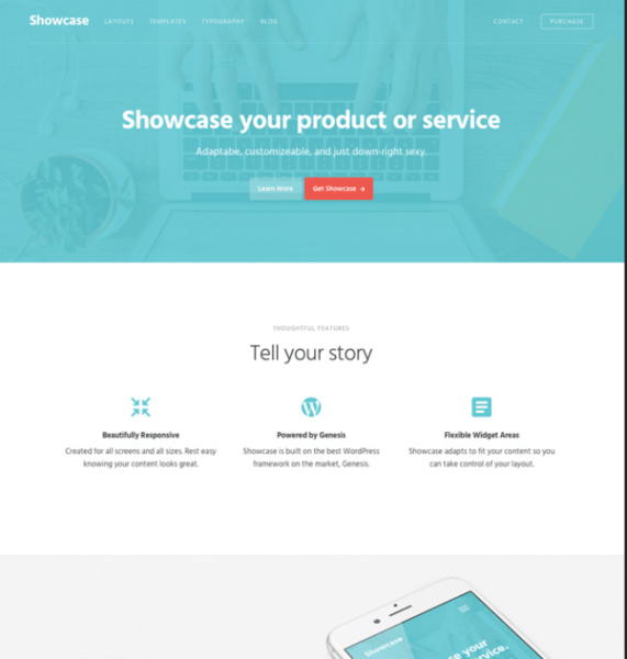 Showcase  Pro – WordPress theme to showcase products and services