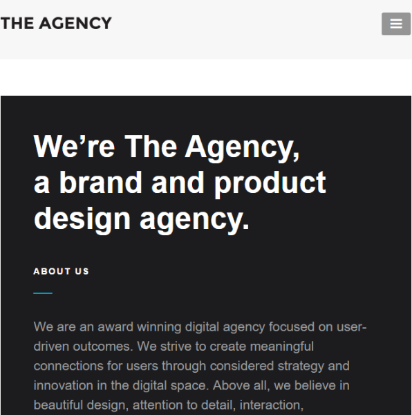 The Agency – Responsive  WordPress Theme for Agencies and Business Websites.