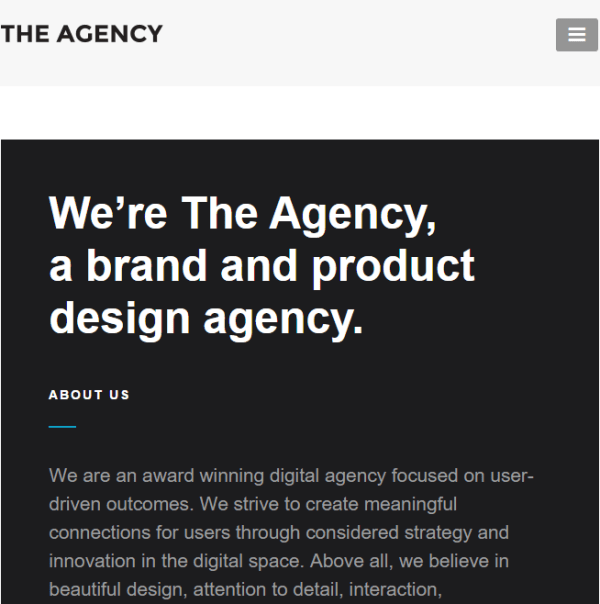 The Agency - Responsive WordPress Theme for Agencies and Business Websites.
