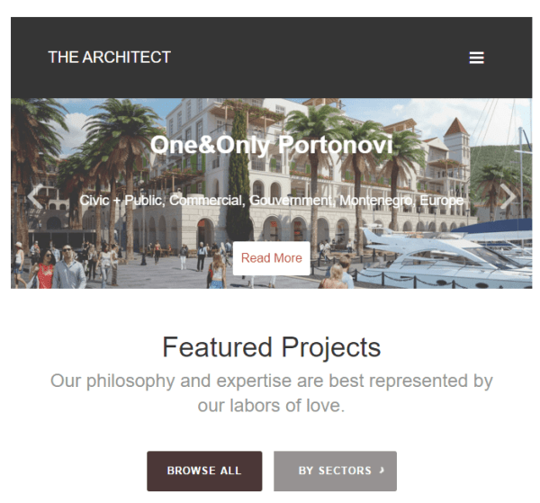 The Architect – WP Theme for Architectures and Designers.