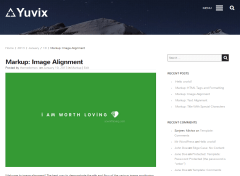 Single blog post of Yuvix Theme