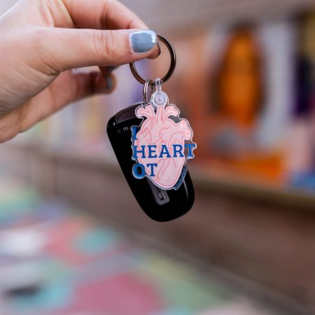 I Heart Occupational Therapy Key Chain