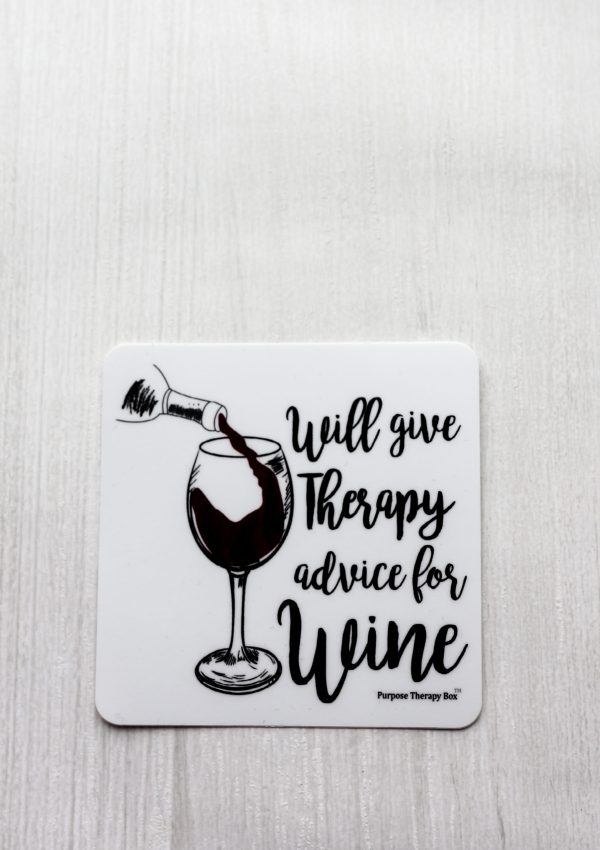 Therapy Advice for Wine Sticker