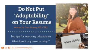 Occupational Therapy Resume Tips