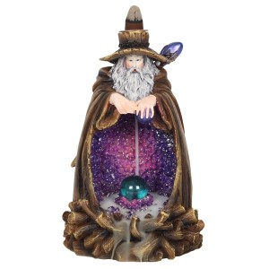 Wizard Backflow Incense Burner with Light