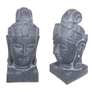 Antique Blue Buddha Head Ornament