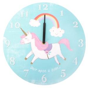 Blue Round Ernie the Unicorn Wall Clock