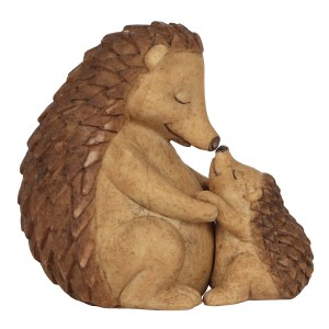 Happy Hoglet Mother and Baby Hedgehog Ornament