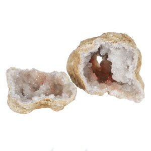 Medium White Quartz Geode