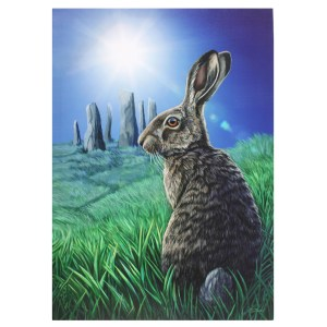 50x70cm Solstice Canvas Plaque by Lisa Parker