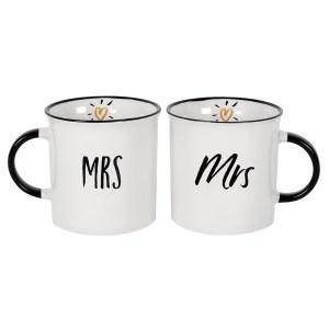 Mrs and Mrs Mug Set