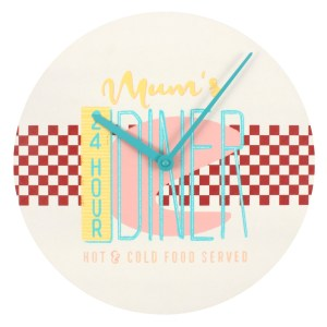 24 Hour Mum's Diner Wall Clock