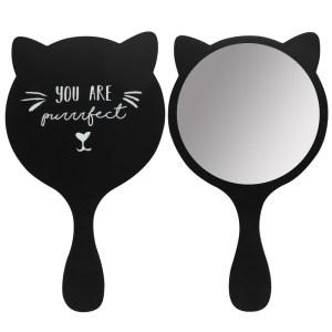 Black Cat Handheld Mirror