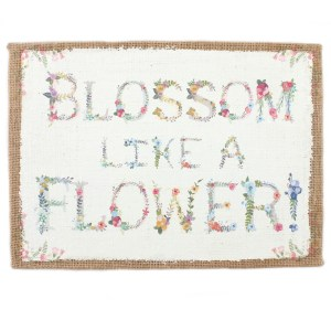 Blossom Hessian Wall Sign
