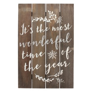 Most Wonderful Time Of The Year Wooden Sign